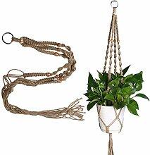 Demiawaking Betriebsaufhänger Makramee Pflanze Aufhänger Blumentöpfe Seil für Indoor Outdoor Garten Dekoration (Blumentopf ist nicht enthalten) (100cm)