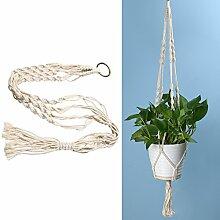 Demiawaking Betriebsaufhänger Makramee Pflanze Aufhänger Blumentöpfe Seil für Indoor Outdoor Garten Dekoration (Blumentopf ist nicht enthalten) (A)