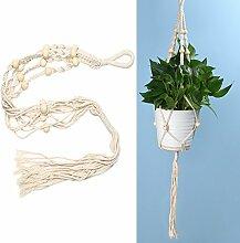 Demiawaking Betriebsaufhänger Makramee Pflanze Aufhänger Blumentöpfe Seil für Indoor Outdoor Garten Dekoration 92cm (Blumentopf ist nicht enthalten) (B)