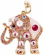 Demiawaking Mädchen Handwerk Legierung Mode Elefant Schmetterling Form Schlüsselanhänger , Schlüsselanhänger als Geschenk für Auto, Anhänger Handtasche, Frauen Hängende Dekoration (1)