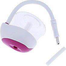 Demiawaking Mini USB Auto Hause Luftreiniger Aroma Ätherisches Öl Diffusor Luftbefeuchter (Rose Rot)