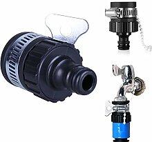 Demiawaking Outdoor Garden Bewässerungshahn Schlauchverbinder Adapter Geeignet für 14-21mm Tap