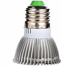 Demiawaking Volles Spektrum wachsen Licht 18W LED wachsen Lampenbirne für Blumenpflanze Hydroponic (E27)