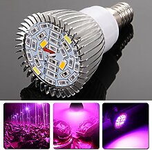 Demiawaking Vollspektrum 10W E14 Wachstumslampe AC85-265V Pflanze Grow Lampe