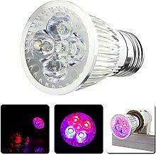 Demiawaking Vollspektrum 6W LED Pflanze Wachsen Licht E27 AC 110V / 220V Wachsen Lampe
