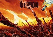 Demon 6 Great Rock Metal-Album Cover, Musik-Band-Motiv mit Bilderrahmen, für A4