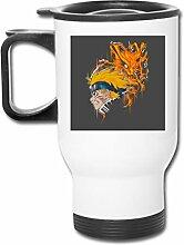 Demon Fox Naruto Edelstahl-Becher, doppelwandig,