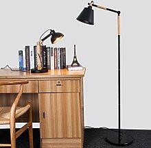 Den Stehlampe kreative Holz einfache Fern Nordic Mode Persönlichkeit Wohnzimmer Schlafzimmer Holzstehlampe