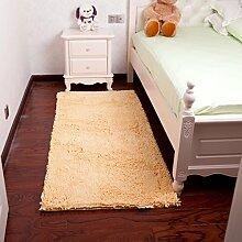den Teppich Bett Balkon/Zimmer Garderobe indoor Langhaar Teppich der Treppe-D 70x140cm(28x55inch)