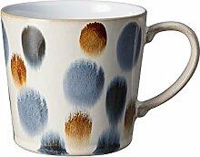 Denby Becher Handbemalt, Keramik, braun Spot,