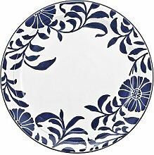 Denby Malmo Bloom Dessert- und Salatteller, Blau