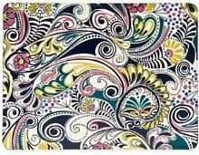 Denby Monsoon Cosmic Platzset mit Unterseite aus Kork, 30,5x23cm, bunt/cremefarben, 4Stück