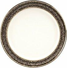 Denby Praline Kuchen-/Salatteller mit breitem Rand, 24,5cm