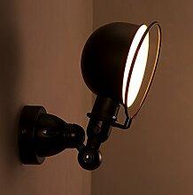 DENG Faltende industrielle Wandlampe Schlafzimmer