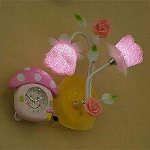 DENG Wandlampe LED Wandleuchte Rose Wecker