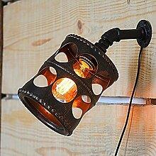 DENGBIDEH Retro Wasserrohr Wandlampe Metall