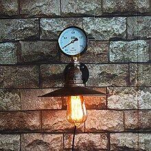 DENGBIDEH Wasserrohr Metall Wandlampe Retro