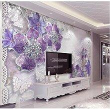 Dengjiam Tapete Für Schlafzimmerwände 3D Lila