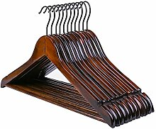 DENGS Holz Kleiderbügel 20 Stück, mit