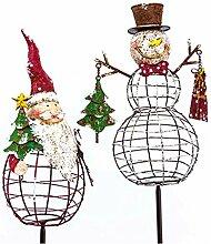 DENK Deko-Stecker-Set Santa Claus Snowmann 2-tlg