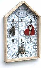 DENK Schlüsselkasten Weiß Holz Keys 32594