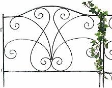 DENK Steckzaun Metall Rankhilfe 60 cm breit Metallzaun Rankgitter Kletterhilfe Zaun