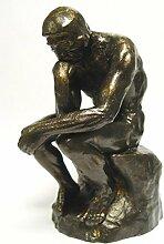Denker Mensch Mann Philosoph Gusseisen Figur Skulptur Eisen Akt Deko Dekoration