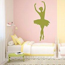 denoda® Ballerina - Wandtatto Hellrosa 50 x 121 cm (Wandsticker Wanddekoration Wohndeko Wohnzimmer Kinderzimmer Schlafzimmer Wand Aufkleber)