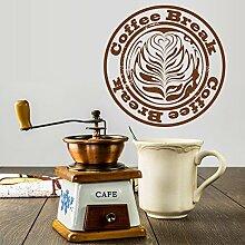 denoda® Coffeebreak - Wandbutton Dunkelrot 50 x 50 cm (Wandsticker Wanddekoration Wohndeko Wohnzimmer Kinderzimmer Schlafzimmer Wand Aufkleber)