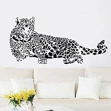 denoda® Leopard - Wandsticker (Wandsticker Wanddekoration Wohndeko Wohnzimmer Kinderzimmer Schlafzimmer Wand Aufkleber)