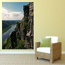 denoda® Sächsische Schweiz - Wandbild 95 x 143 cm (Wandsticker Wanddekoration Wohndeko Wohnzimmer Kinderzimmer Schlafzimmer Wand Aufkleber)