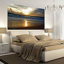 denoda Sonnenuntergang - Wandbild 45 x 25 cm