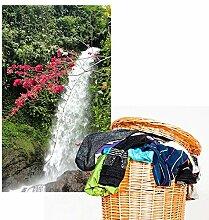 denoda® Wasserfall mit Blüten - Wandbild 25 x 45 cm (Wandsticker Wanddekoration Wohndeko Wohnzimmer Kinderzimmer Schlafzimmer Wand Aufkleber)