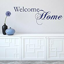 denoda Welcome home Braun 67 x 25 cm (Wandsticker