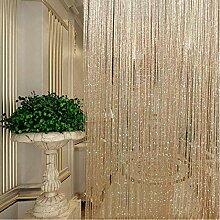 DENPETEC Türvorhang Fadenvorhang Quaste Vorhang -