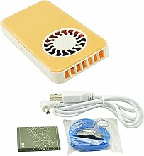 Denshine Klein usb Hand Ventilator mit Batterie (Gelb)