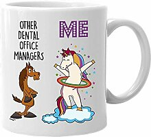 Dental Office Manager Mug Funny Unicorn Gifts for