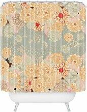 DENY Designs Iveta Abolina Sunset 2Extra Lange Vorhang für die Dusche, Polyester, Creme De La Creme, Standard