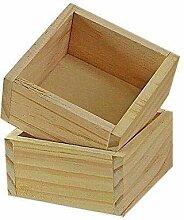 Depory Rechteckige Holzbox Make-up-Halter