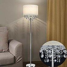 Depuley LED Stehlampe Wohnzimmer Kristall, Modern