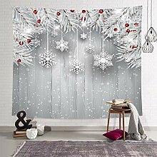 DEQI Wandteppich mit Weihnachtsmotiven W90 x L71