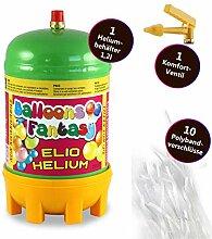 deqoo Ballongas Helium Flasche für ca. 8-15
