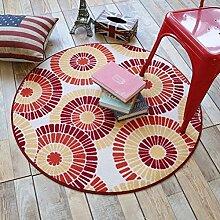 Der amerikanischen runden Teppich Schlafzimmer