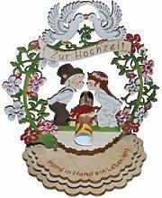Der Holznischel zur Hochzeit, Taufe, Geburtstag oder zum runden Geburtstag - Geldgeschenk (zur Hochzeit)