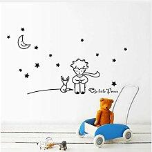 Der Kleine Prinz Fox Star Moon Wandaufkleber