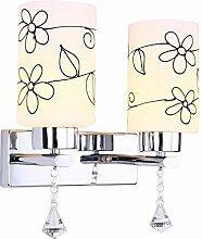 Der Leiter der Wandleuchten American-Style Schlafzimmer Eisen Kunst Dual Head hellen Wänden helle Zimmer Das Hotel erinnert an die Flur Einhaltung der Gang Lampen