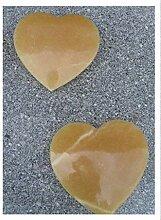 Der Naturstein Garten Herz aus poliertem Onyx 15
