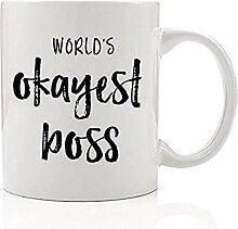 Der Okayest Chef der Welt Lustige Kaffeetasse