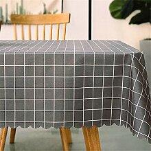 Der Rastertisch Tuch, Wasser und Öl beständig Bügeleisenmatte PVC Plastik- Tischdecke einfachen rechteckigen Tisch Matte, graue kleine Format 90*140 cm