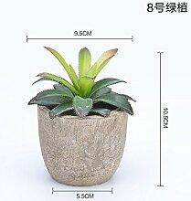 Der Schreibtisch Dekoration Vergossen Mini Künstliche Blumen Kleine Grüne Pflanzen Fleisch Zubehör, Pflanzen